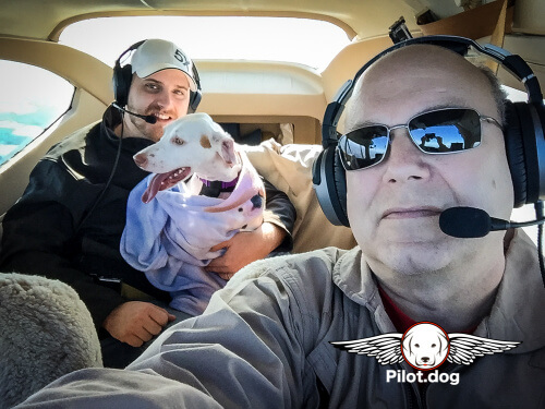 Phillip, Lucy, and Steve in flight.