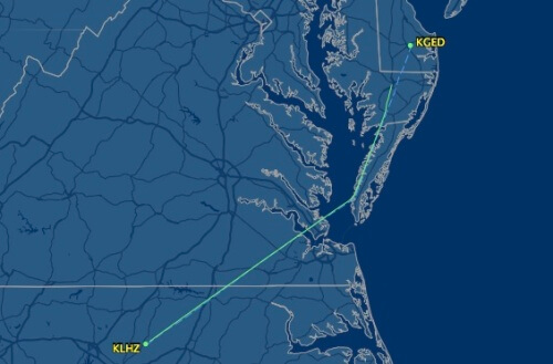 Flight to Delaware.