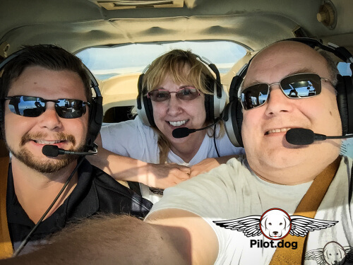 Patrick, Pam, and Steve on the flight today.