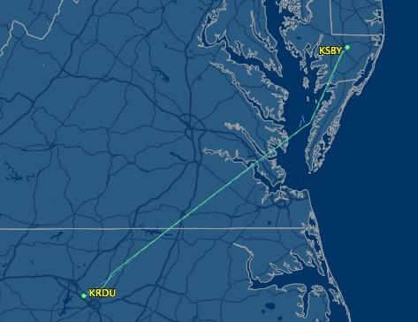 Leg 3 - Georgetown, DE to Raleigh, NC