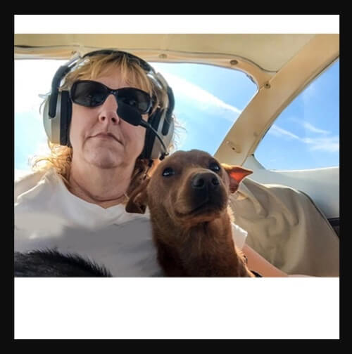 Here is the now current nomination picture for Red as the best rescue for Pilots N Paws.